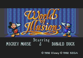Pantallazo de World of Illusion Starring Mickey Mouse and Donald Duck para Sega Megadrive