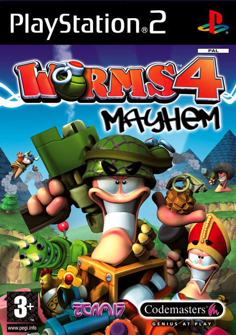 Caratula de Worms 4: Mayhem para PlayStation 2