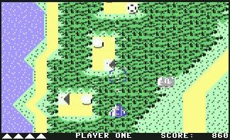 Pantallazo de Xevious para Commodore 64