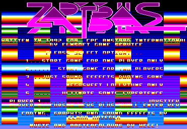 Pantallazo de Zap't'balls, The Advanced Edition para Amstrad CPC