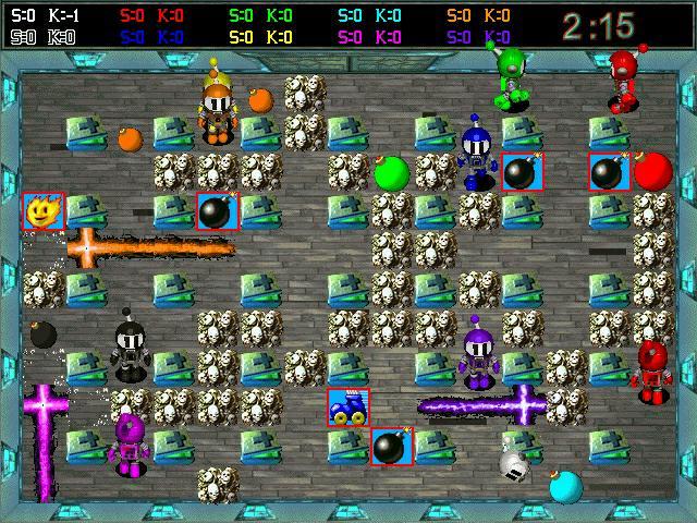 Scena di gioco Atomic Bomberman