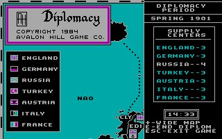 Imagen del juego Computer Diplomacy