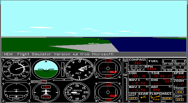 Imagen del juego Microsoft Flight Simulator 4.0