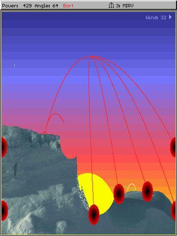 Imagen del juego Scorched Earth