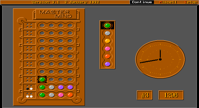 Imagen del juego Mastermind