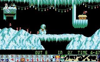 Imagen del juego Xmas Lemmings 91