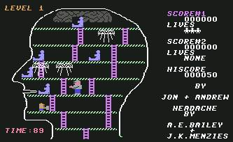Pantallazo de headache para Commodore 64