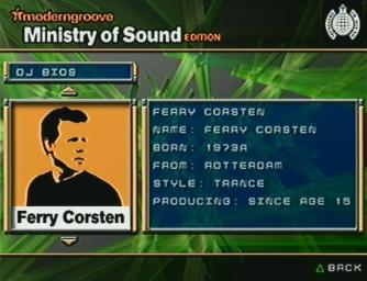 Pantallazo de moderngroove: Ministry of Sound Edition [Cancelado] para PlayStation 2